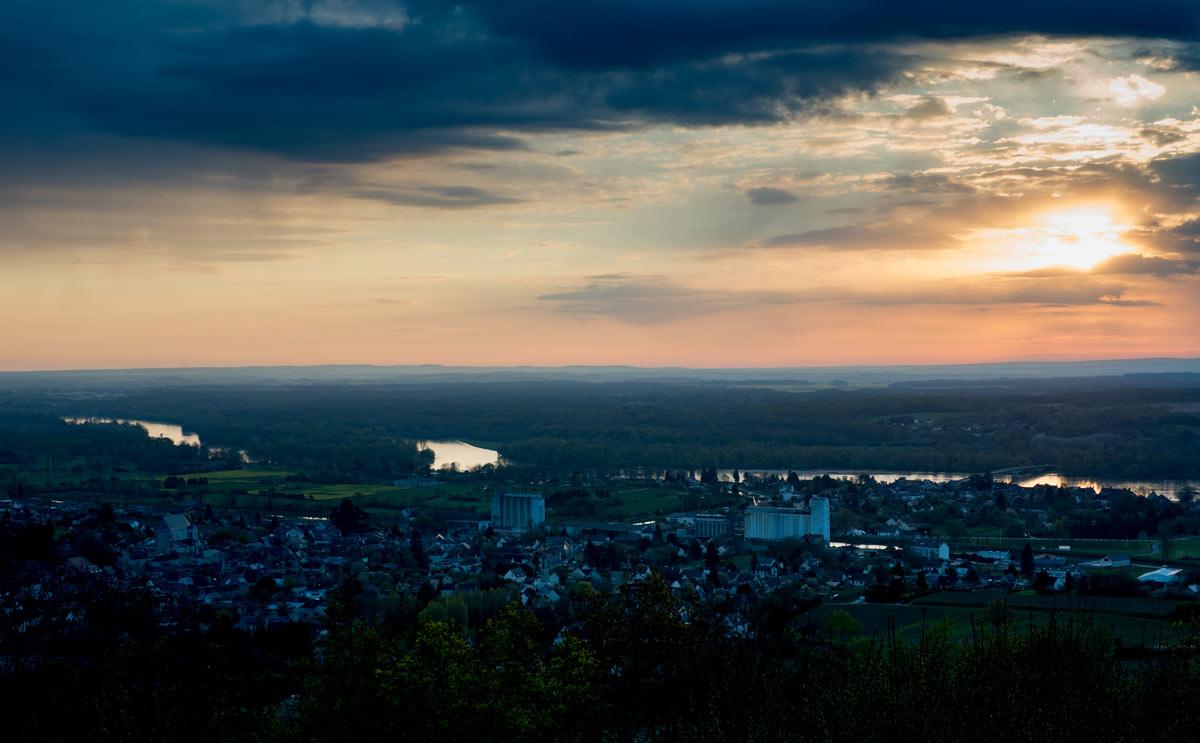 Sonnenaufgang Loire Tal